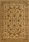 Traditional Area Rug, Sphinx by Oriental Weavers, Allure 4'x6' Beige NoPart: 748679165681