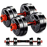 Adjustable Dumbbell Weight Barbell Set – 2 Pcs x 17 Lbs/Pair Home Weights Set – Includes Connecting Rod –User-Friendly Design – Easy Comfortable Grip – Ideal for Fitness,Home Gym,Lifting, Muscle Mass