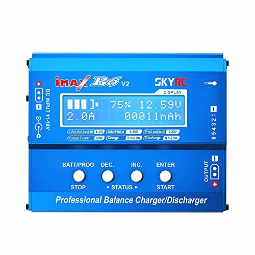 Original IMAX B6 V2 6A 60W Balance Charger Discharger for NiMH NiCD LiHV NiCd PB Li-Ion Battery Charger for DJI Mavic/Inspire Battery