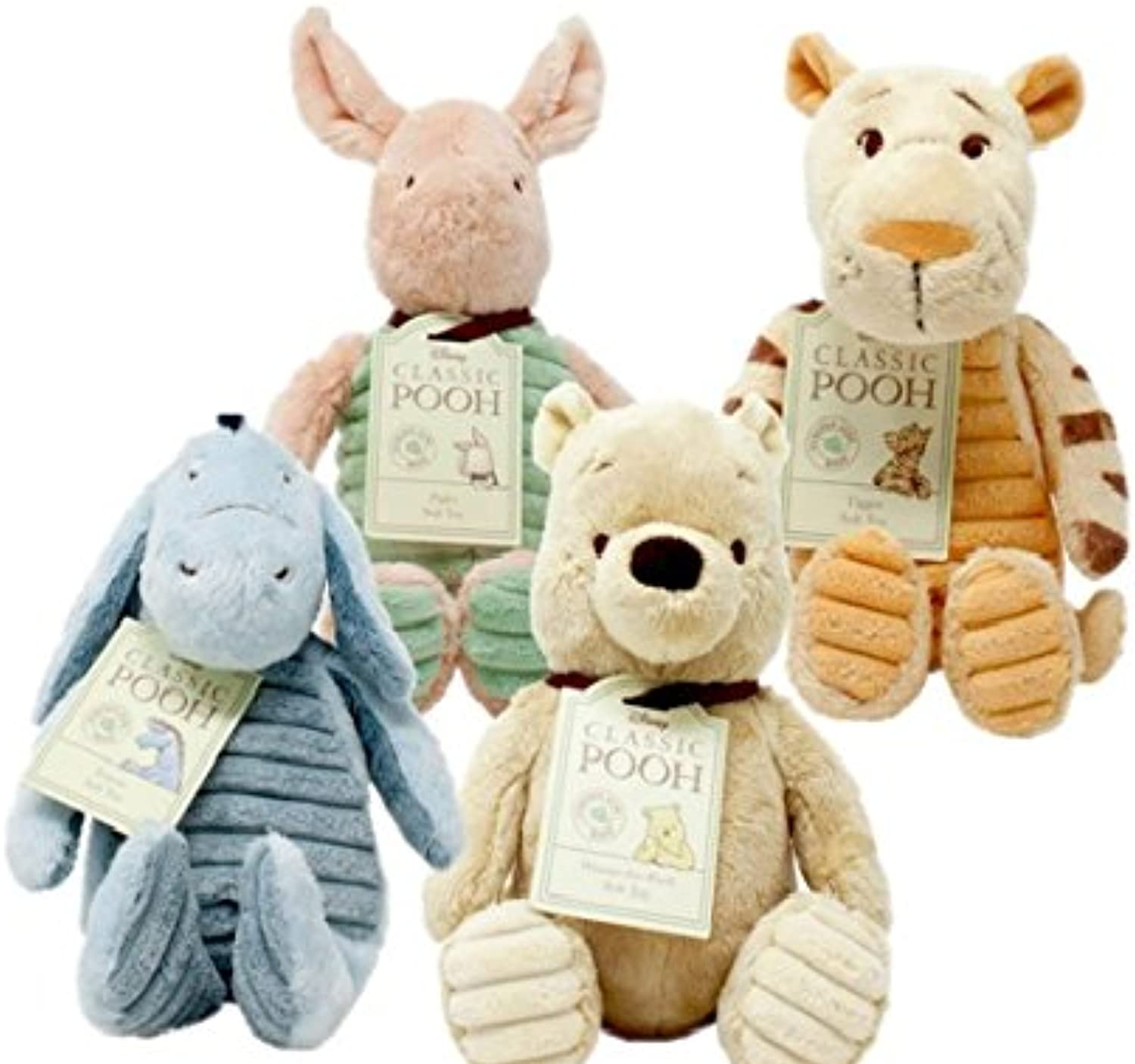 Amy Karyn Disney Winnie The Pooh Character Set of 4; Tigger, Piglet, Eeyore e Pooh - Hundrosso Acre Wood - Soft giocattolo
