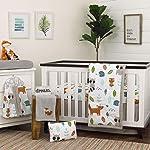 Crib Bedding And Baby Bedding Nojo Dreamer Little Woodland Friends 8 Piece Nursery Crib Bedding Set, Grey/Tan/Aqua/White