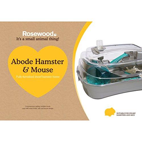 Rosewood Abode Enano Hámster y Ratón Inicio, Plata