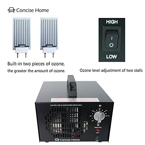 High 5 Ace Sea Commercial Ozone Generator 10000mg Industrial O3 Air Purifier Black Deodorizer Sterilizer
