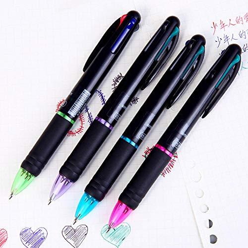 HJCWL 4 stks 4 Kleuren In 1 Balpen Kawaii Multi kleuren Bal Pens Eenvoudige briefpapier Pens Voor Kinderen Gift School Kantoorbenodigdheden