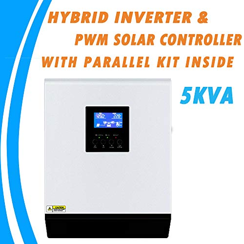 SHIJING 5KVA Reiner Sinus-Hybrid-Solar-Wechselrichter 48V 220V Eingebauter 50A-Laderegler und Wechselstrom-Ladegerät mit integriertem Parallel-Kit