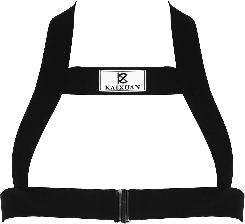 iiniim Men's X-Back Harness Belt Body Chest Elastic Halter Nylon Shoulder Strap Costume