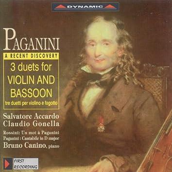 Paganini: Duets for Violin and Bassoon / Cantabile in D Major / Rossini: Un Mot A Paganini