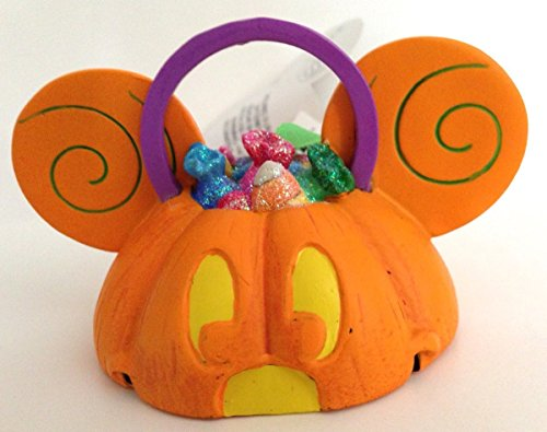 Mickey Mouse Ears Hat Light Up Pumpkin Ornament
