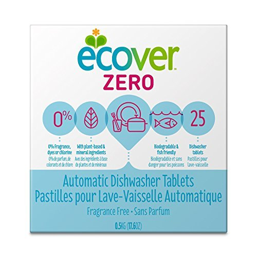 Ecover Ecover Zero, Automatic Dishwasher Tablets 25 tablets Natural Dishwashing Products