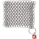 """Knapp Made Original CM Scrubber 4"""" Chainmail Scrubber - For Cast Iron, Stainless Steel, Hard Anodized Cookware and Other Pots & Pans"""