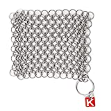 Knapp Made Original CM Scrubber 4' Chainmail Scrubber - Cast Iron Cleaner - For Cast Iron, Stainless...