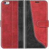 Mulbess Funda para iPhone 6s Plus, Funda iPhone 6 Plus, Funda con Tapa iPhone 6s Plus, Funda iPhone 6s Plus Libro, Funda Cartera para iPhone 6s Plus Carcasa, Vino Rojo