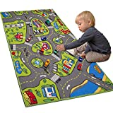 Large Kids Carpet Playmat Rug 32' x 52' with Non-Slip Backing, City Life Play Mat for Playing with Car Toy, Game Area for Baby Toddler Kid Child Educational Learn Road Traffic in Bedroom, Classroom