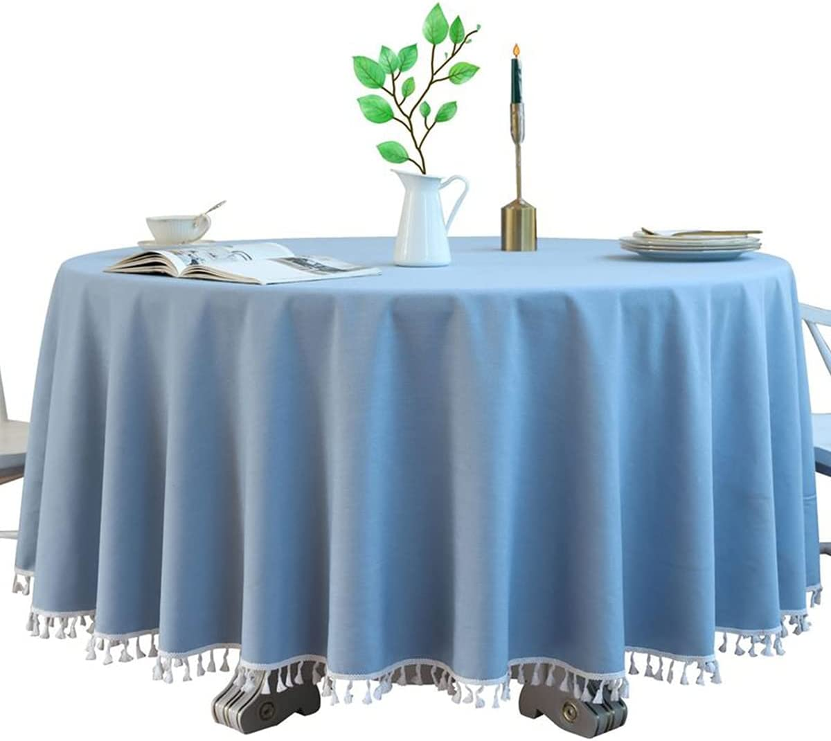 jia cool Los Angeles Mall Super-cheap Round Table Cloth and Non-Sli Anti-Wrinkle Waterproof