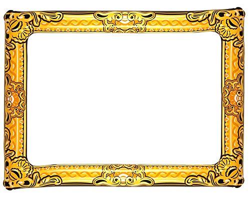 Henbrandt Aufblasbarer Fotorahmen mit Goldzusatz 60cm x 80cm Schwarz