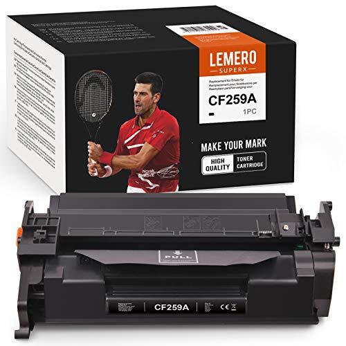 LEMERO SUPERX Tóner 59A CF259A (sin chip) compatible con HP 59A CF259A para HP Laserjet Pro M304 M404n DN DW MFP M428dw fdn fdw (1 cartucho negro)