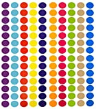 Tag-A-Room 3/4 Inch Round Color Coding Circle Dot Label Stickers, 10 Bright Colors, 8 1/2' x 11' Sheet (1260 Pack)