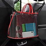 Car Net Pocket Handbag Holder - Organizer Auto Borsa Da Tasca Per Auto, Organizer Per Il In Rete Grande Capacità Per Riporre Documenti Telefono Tasca E Barriera Del Sedile Posteriore Per Bambini