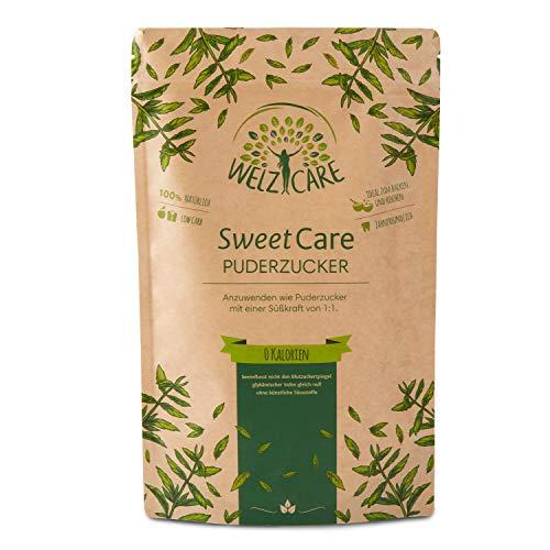 SweetCare PREMIUM Puderzucker - Zuckerersatz – 100{a9289d8b7727a8c9ca7f8c6e5cdf98355f9d4fa9b3d52cc4888f68335631c149} Vegan – keine Kalorien – Low Carb – mit Erythritol und Stevia – Made in Germany - 250g