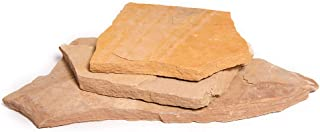 Landscape Patio Flagstone | 1000 Pounds | Natural Rock Pathway Stepping Stone Slabs for Gardens, Terrariums, Landscape Design, Driveway Pavers and Walkway Steppers (Arizona Buckskin)