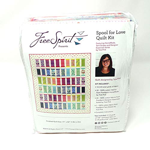 Free Spirit Fabrics 0692057 Tula Pink Spool of Love Quilt Kit Stoff, baumwolle, Hausgemachte, By The Yard