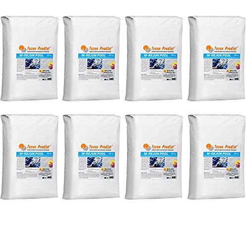M-REJUN POOL de Tecno Prodist - (Pack 8 sacos 25 kg) Mortero flexible para sellado de juntas de baldosas y gresite en piscinas, ceramica, etc, apto para inmersión permanente (Junta 2 a 20 mm) Blanco