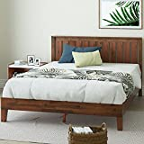 Zinus Vivek 12 Inch Deluxe Wood Platform Bed with Headboard / No Box Spring Needed / Wood Slat Support / Antique Espresso Finish, Queen