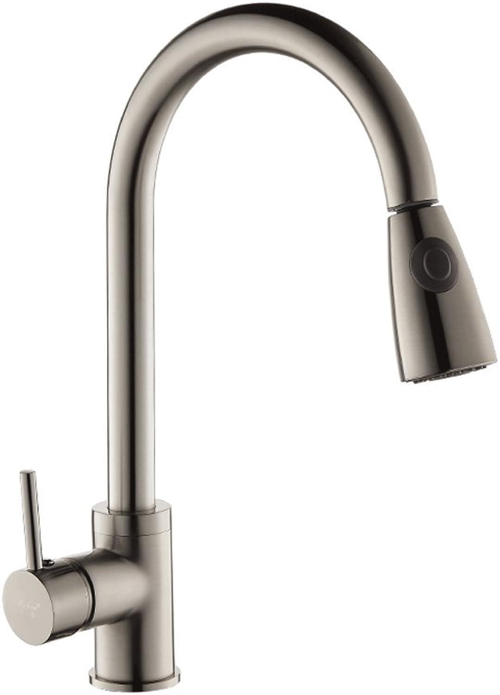 Küchenmischer HSJ 304 Edelstahl Wasserhahn Pull-Out Wasserhahn Rotierenden Küchenarmatur Küchenarmatur Hot und kalt Wasser Teleskopmischer