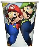 Super Mario 8unidades vasos de cartón–Por 266ml–Mario Cups