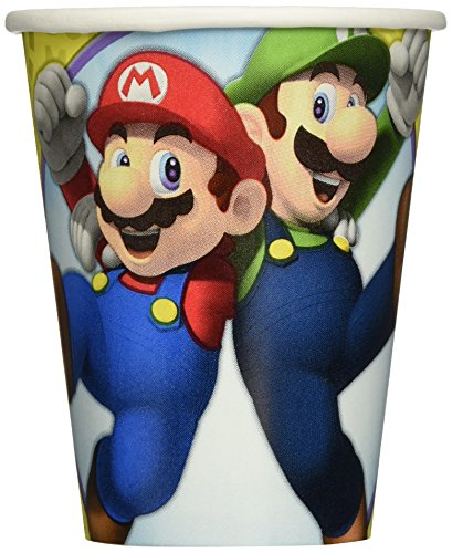 Amscan 581554 266 ml Super Mario Paper Cups pack of 8