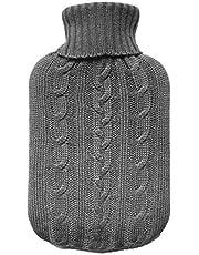 TRIXES Gebreide overtrek voor warme fleece - alleen gebreide cover - warmwaterkruik niet inbegrepen