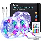 Tiras LED 3M*2, Gohyo Tira LED RGB 300 LED Función Musical, Tira de LED USB 16 Colores, 4...