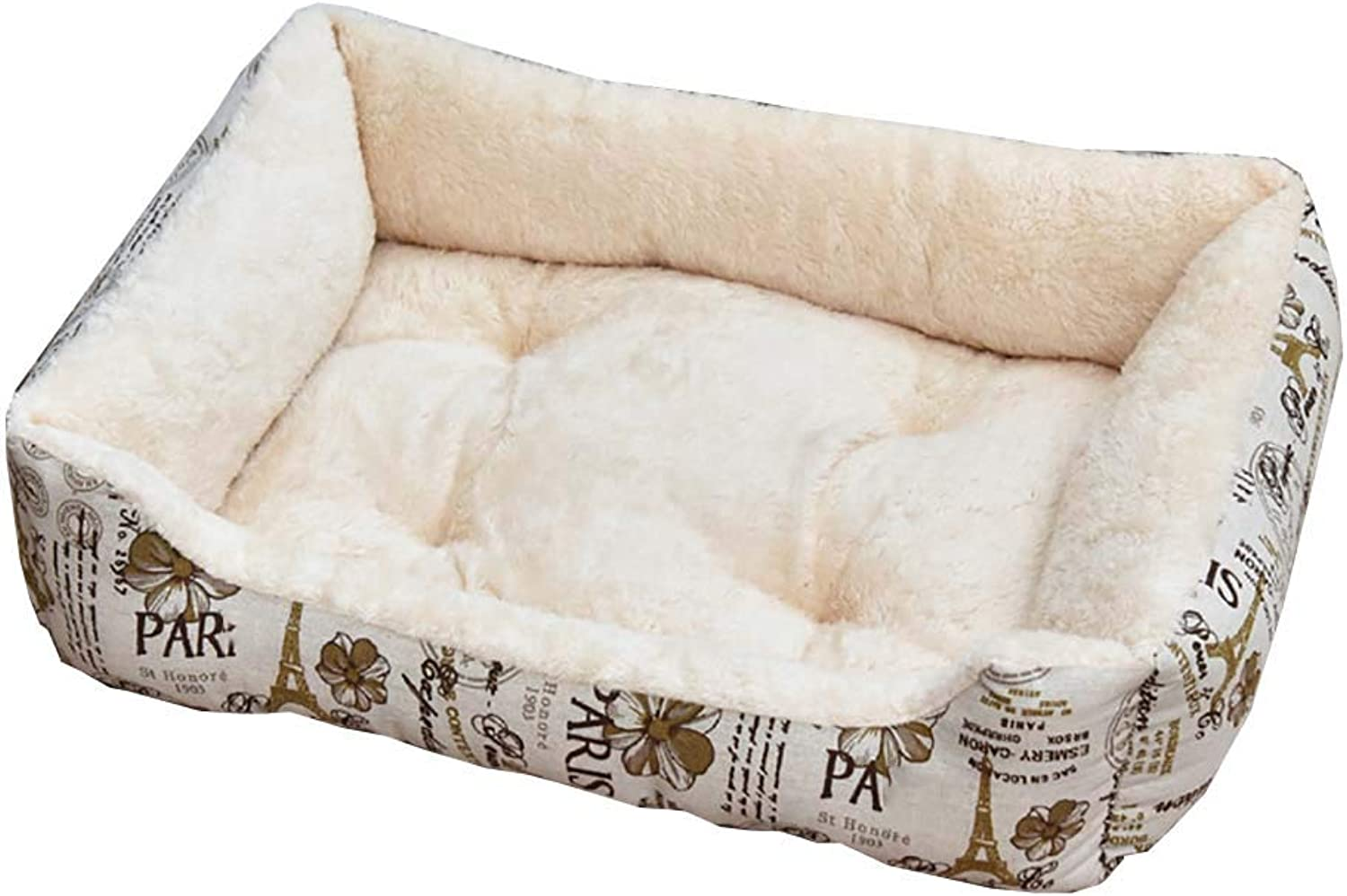Dog bed Cat Houses Plush Dog & Cat Beds Ideal Crates Small & Large Pet, Dog & Cat Houses Medium Pets (color   Style4, Size   70x52x15cm)