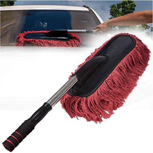 Microfiber Car Duster Brush, Extendable Handle Multipurpose Duster, Car Wash Brush Cleaning Tool Perfect Duster for Exterior and Interior