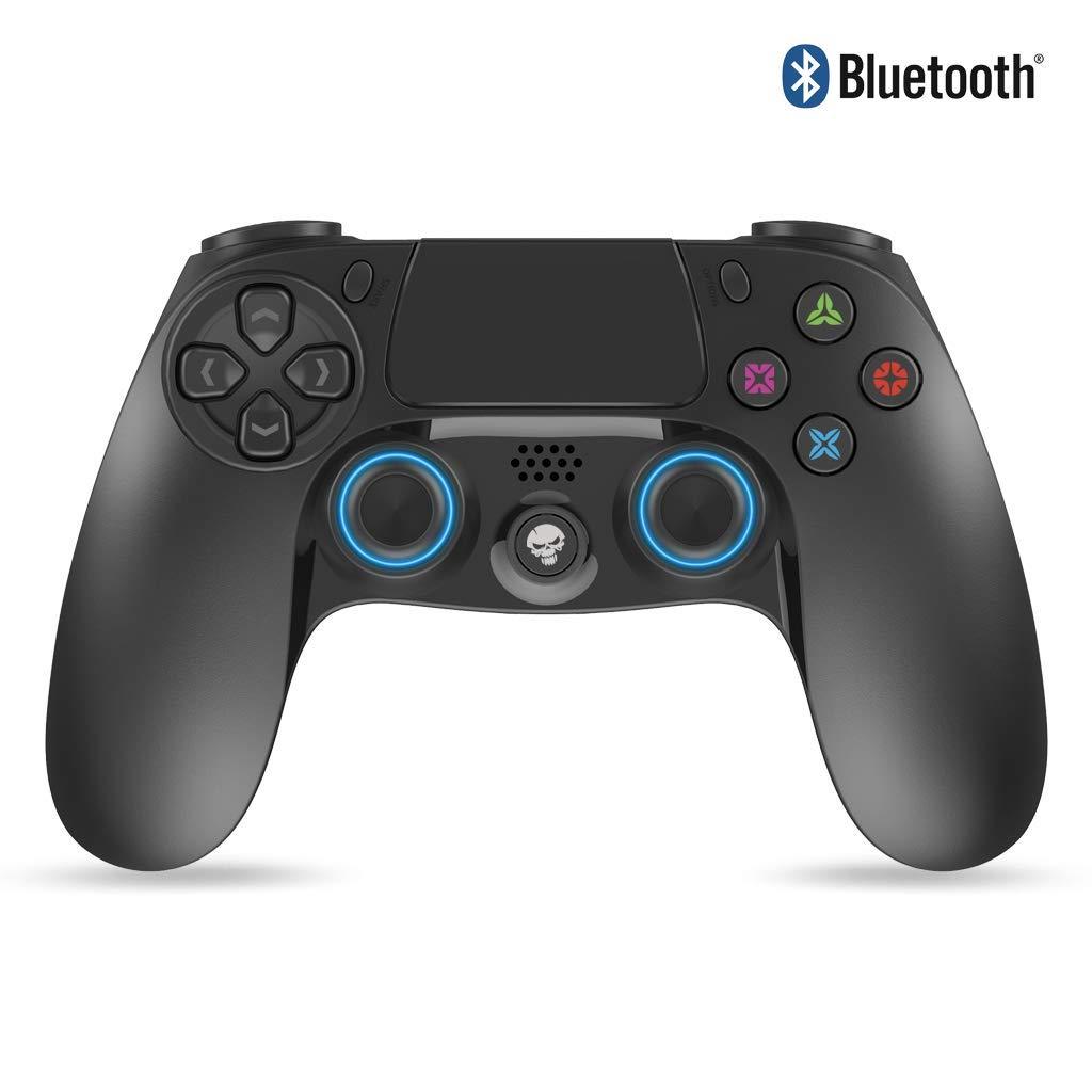 SPIRIT OF GAMER - Playstation® 4 Joystick PGP Bluetooth Mandos Gamepad Black - Inalámbrico - Controlador con Conector Jack de 3.5 mm - Recargable por USB - 12 Horas en Espera - Almohadilla Central: Amazon.es: Videojuegos