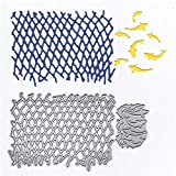 Metal Irregular Fishing Net Cutting Dies, Fish Die Cuts Embossing Stencils Template Mould for Card Scrapbooking and DIY Craft