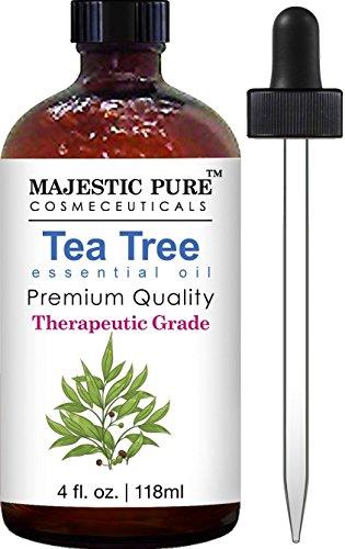 Majestic Pure Therapeurtic Melaleuca Alternifolia Tea Tree Oil With Dropper, 4 fl. Oz