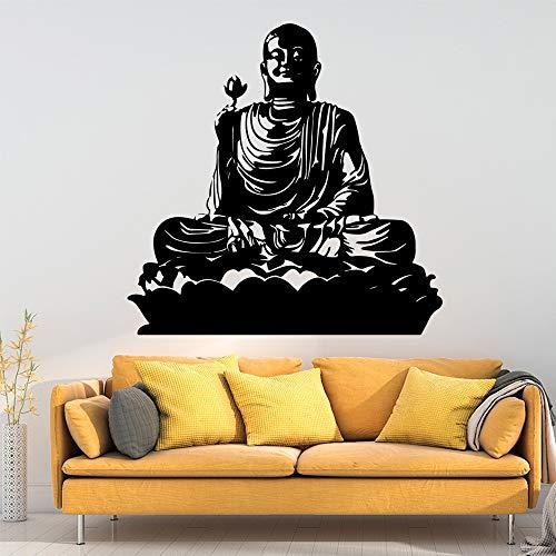 Ajcwhml Cute Buddha Stickers vinilos Decorativos Adhesivos Decorativos Muebles para el hogar habitación Infantil calcomanías de Arte vinilos Decorativos vinilos Decorativos