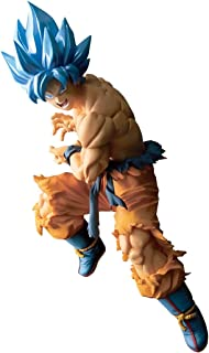 Super Saiyan God SS Son Goku: 17cm Ban Presto TAG Fighters Statue Figurine & 1 D.B. Trading Card Bundle (39566)
