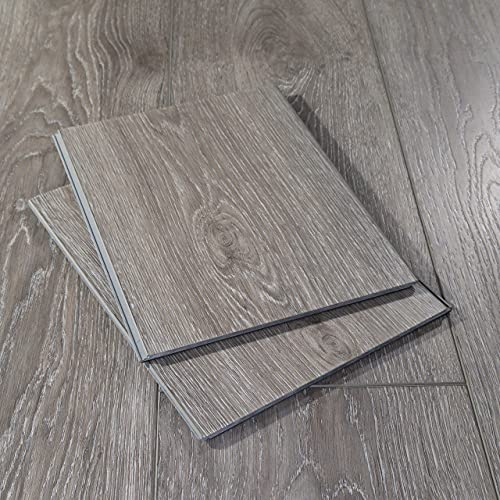 "Modin Rigid Vinyl Plank Flooring, Pre-Attached Underlayment, Click, 40 Mil Wear Layer, Arlo, 12"" Cut Sample"