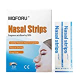 MQFORU 100ct Medium Better Breathe Nasal Strips to Reduce Snoring, Drug-Free, Works Instantly to Improve Sleep, Relieve Nasal Congestion Due to Colds & Allergies, (55mm*16mm)