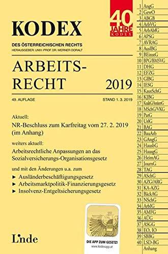 KODEX Arbeitsrecht 2019 (Kodex des Österreichischen Rechts)