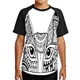 Outline Drawing cat Peeking Out,Couple Cool Short Sleeve Crew Neck T-Shirt White - - - Ukraine L