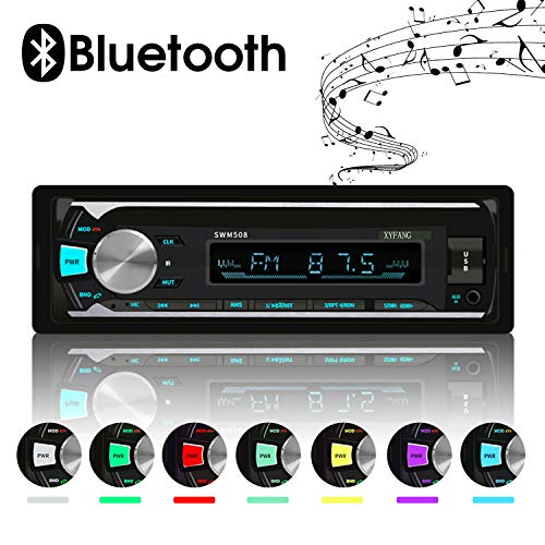 XYFANG Bluetooth Car Stereo,60W X 4 Digital Media Single Din MP3 Player,Car...