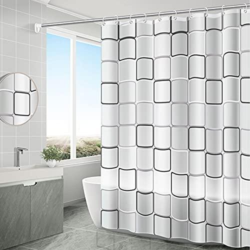 Cortinas de Ducha Baño,Cortina de Ducha Color Blanco Transparente,Cortina de Ducha antimoho Impermeable,Cortina de Ducha para baño de Agua 3D Transparente (180*200cm)