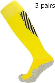 Feixunfan Calcetines de fútbol Calcetines de algodón de Alta compresión de Rodilla for Hombres, Ideales for Vuelo de SportsWork Adecuado para fútbol, Rugby, Hockey, etc. (Color : C1, tamaño : Free)