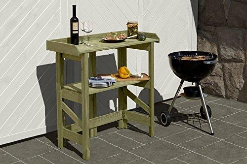 Gartenwelt Riegelsberger Gartentisch L90 x B42 x H97 cm Tisch Pflanztisch Garten sofort gebrauchsfertig stabil, individuell einsetzbar leicht und schnell zusammenklappbar