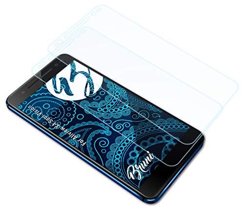 Bruni Schutzfolie kompatibel mit Allview X4 Soul Vision Folie, glasklare Bildschirmschutzfolie (2X)