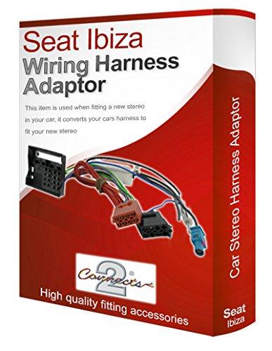 Seat Ibiza radio stéréo CD Adaptateur convertisseur câble faisceau ISO Métier à Tisser-Fil