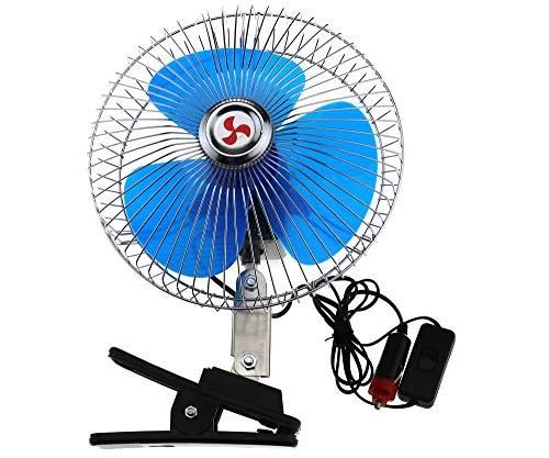 Preisvergleich Produktbild Be In Your Mind 12V Ventilator Auto Kfz Lüfter Kühlluftventilator Oszillierender Autoventilator 8 Zoll